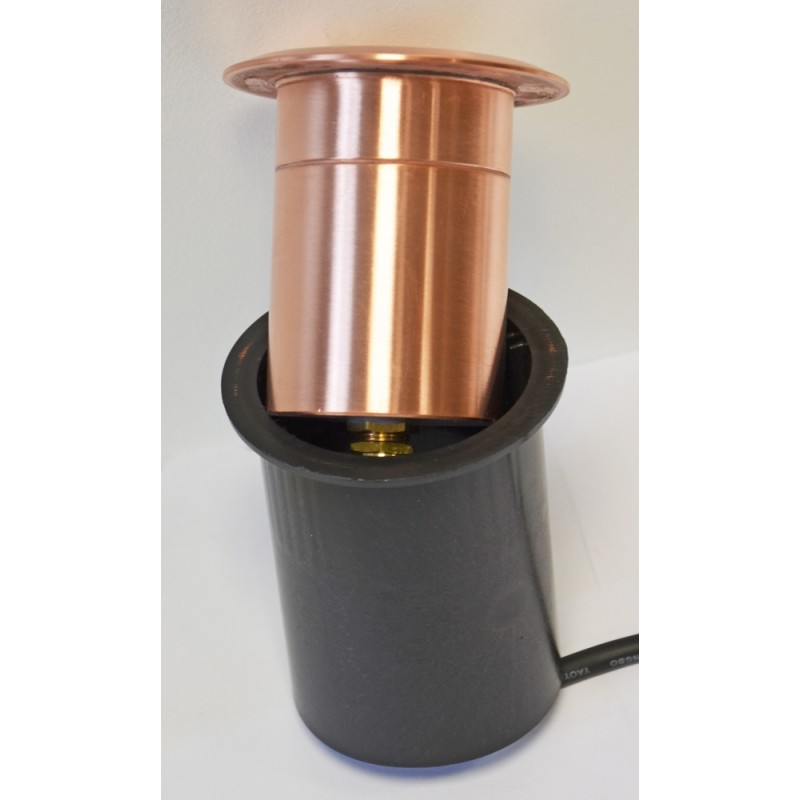 Linalite - 240v Louvered In-Wall or In Ground Natural Copper Light