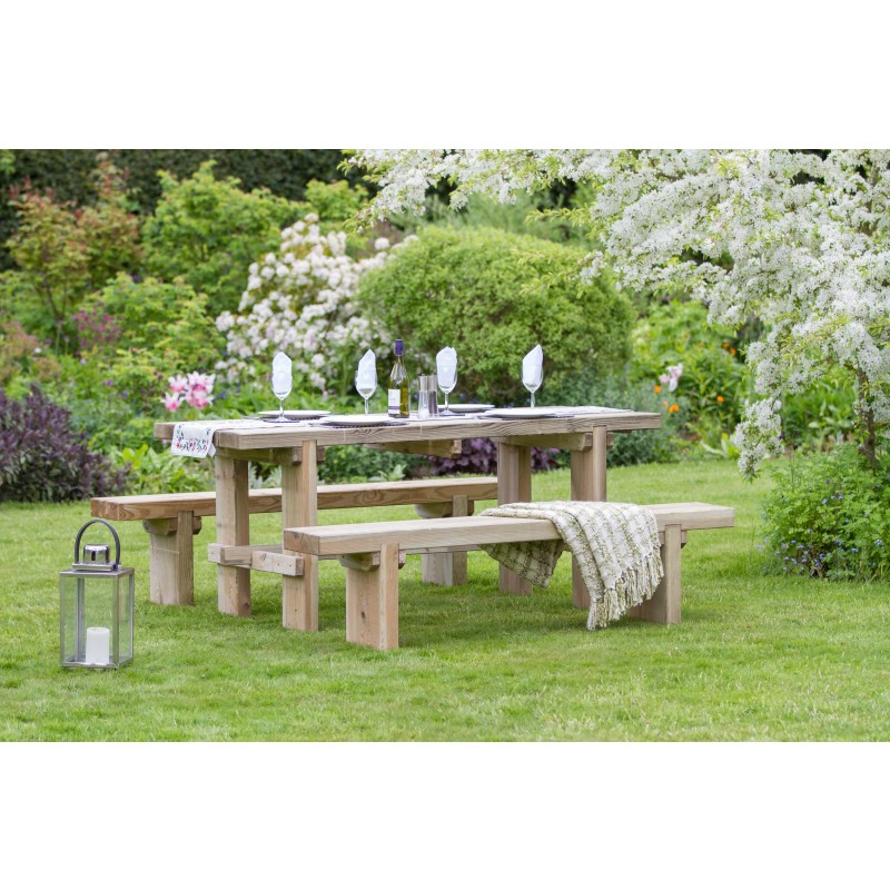 The Rebecca Garden Table and Bench Set