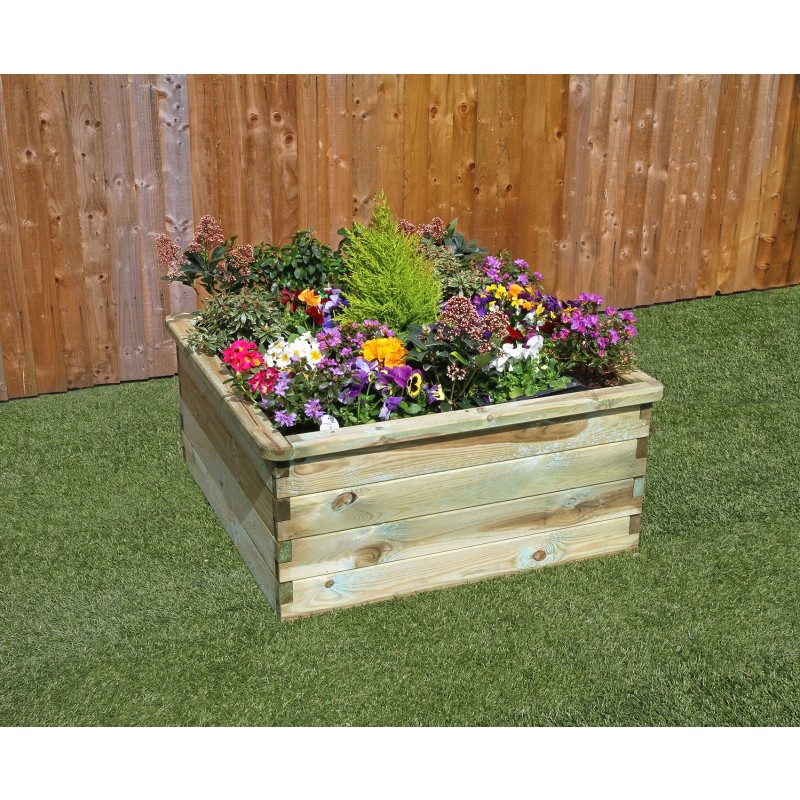 Sleeper Raised Flower Bed 0.90mx0.90mx0.45m