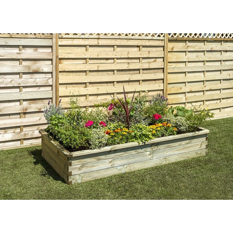 Wooden Sleeper Raised Bed
