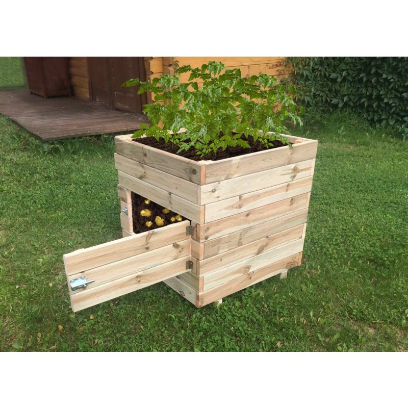 Wooden Square Potato Planter