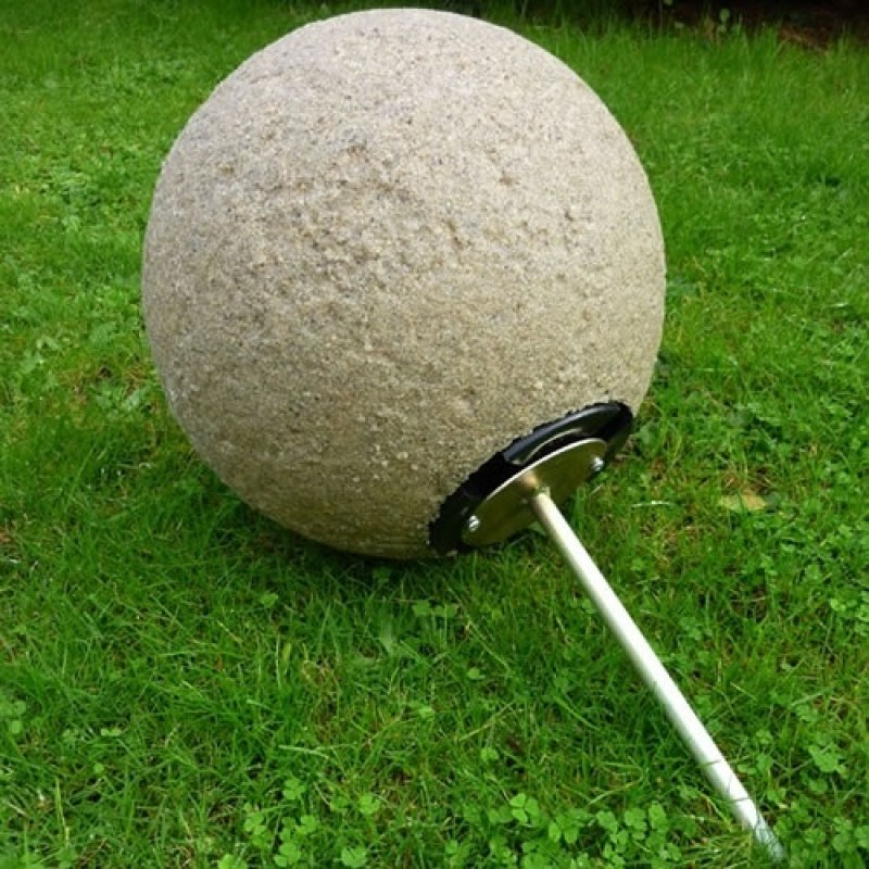 Stone Globe Light Support Spike