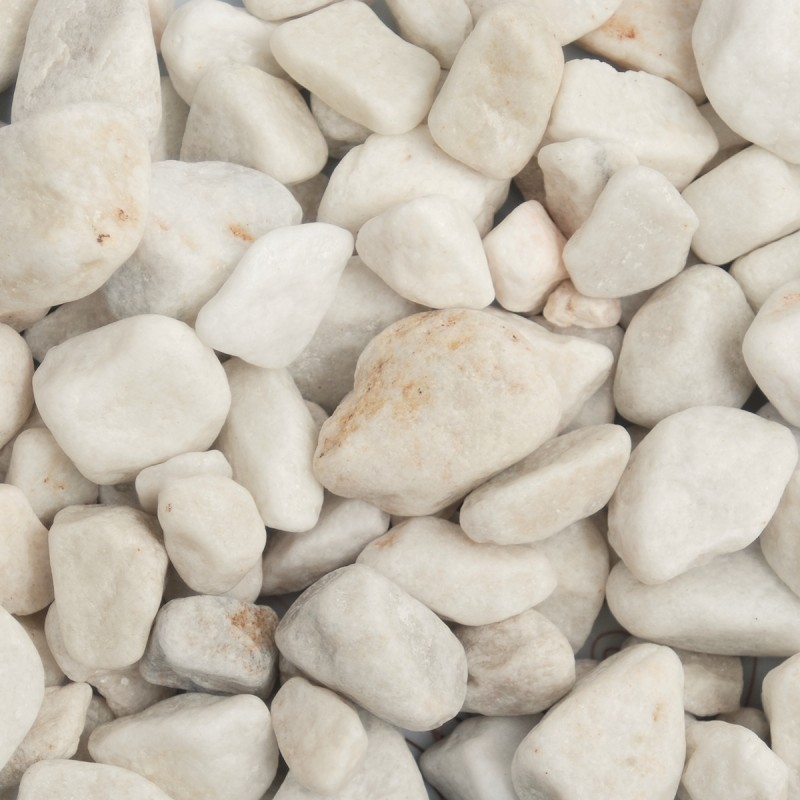 White Marble Pebbles Wet