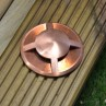 QuadMarka - 12v 4 Way In Ground / Step Light - Natural Copper