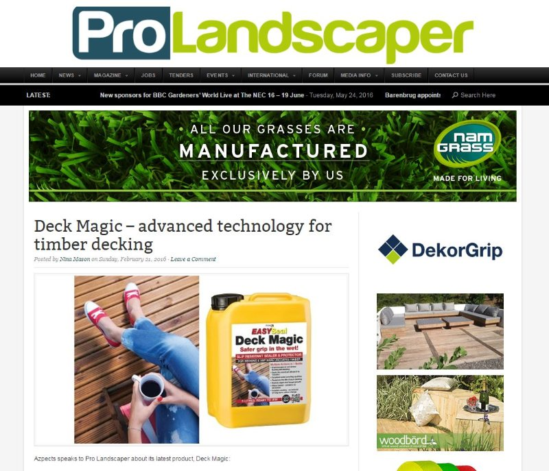 Prolandscaper and Deck Magic!