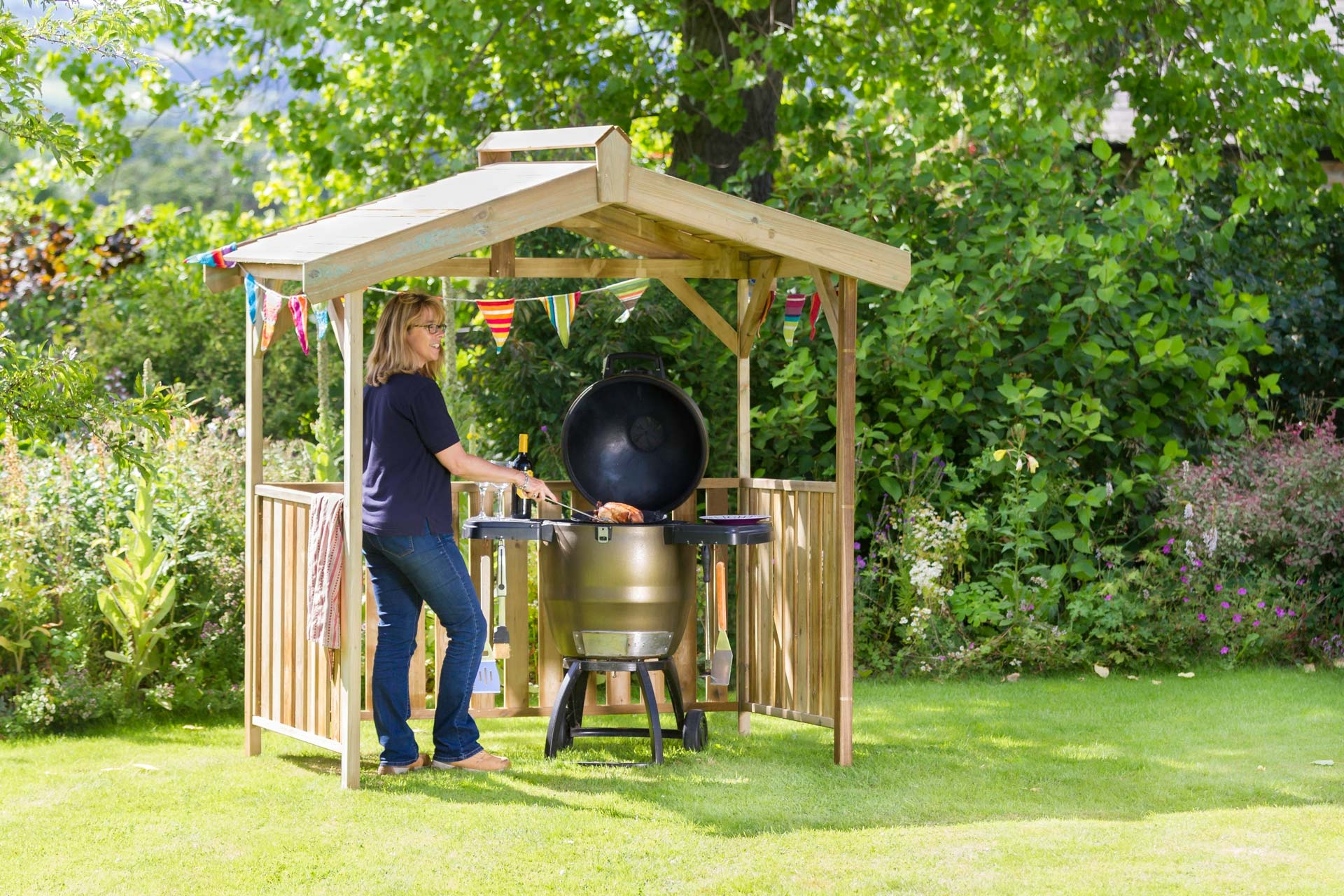 Ashton Gazebo or BBQ shelter from Supreme Landscaping Products