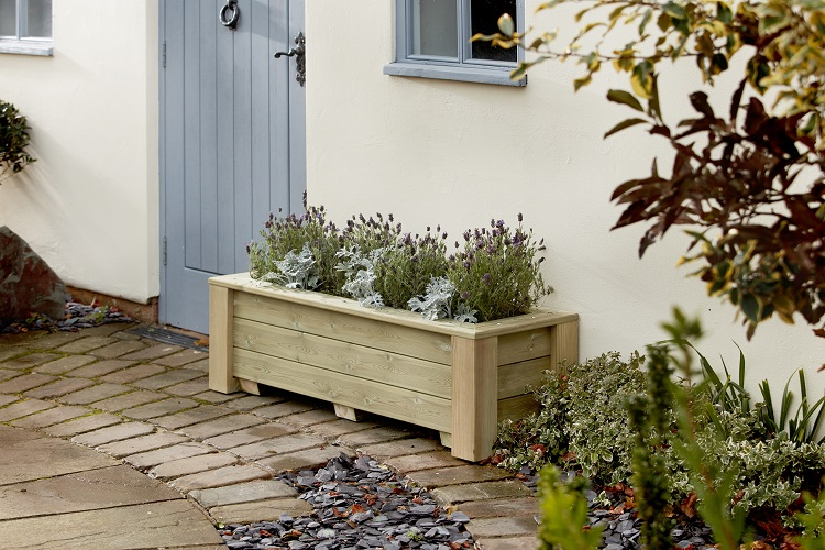 Classic wooden trough