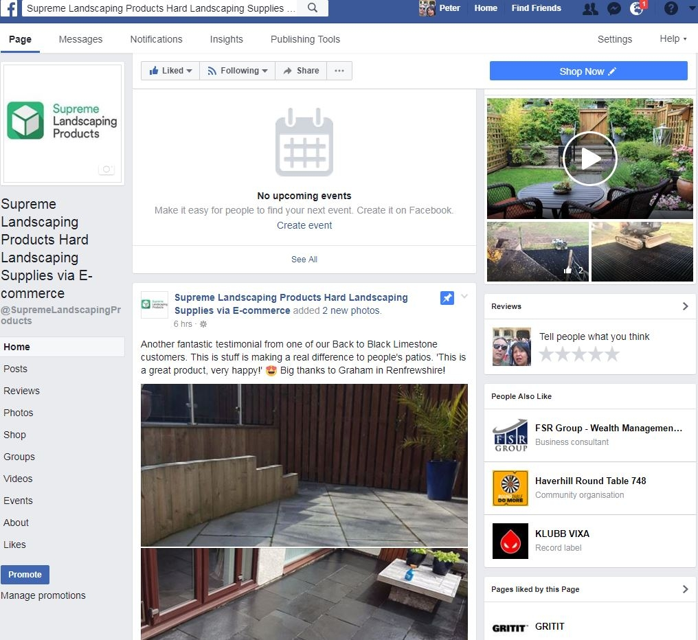 Facebook Supreme Landscaping Products