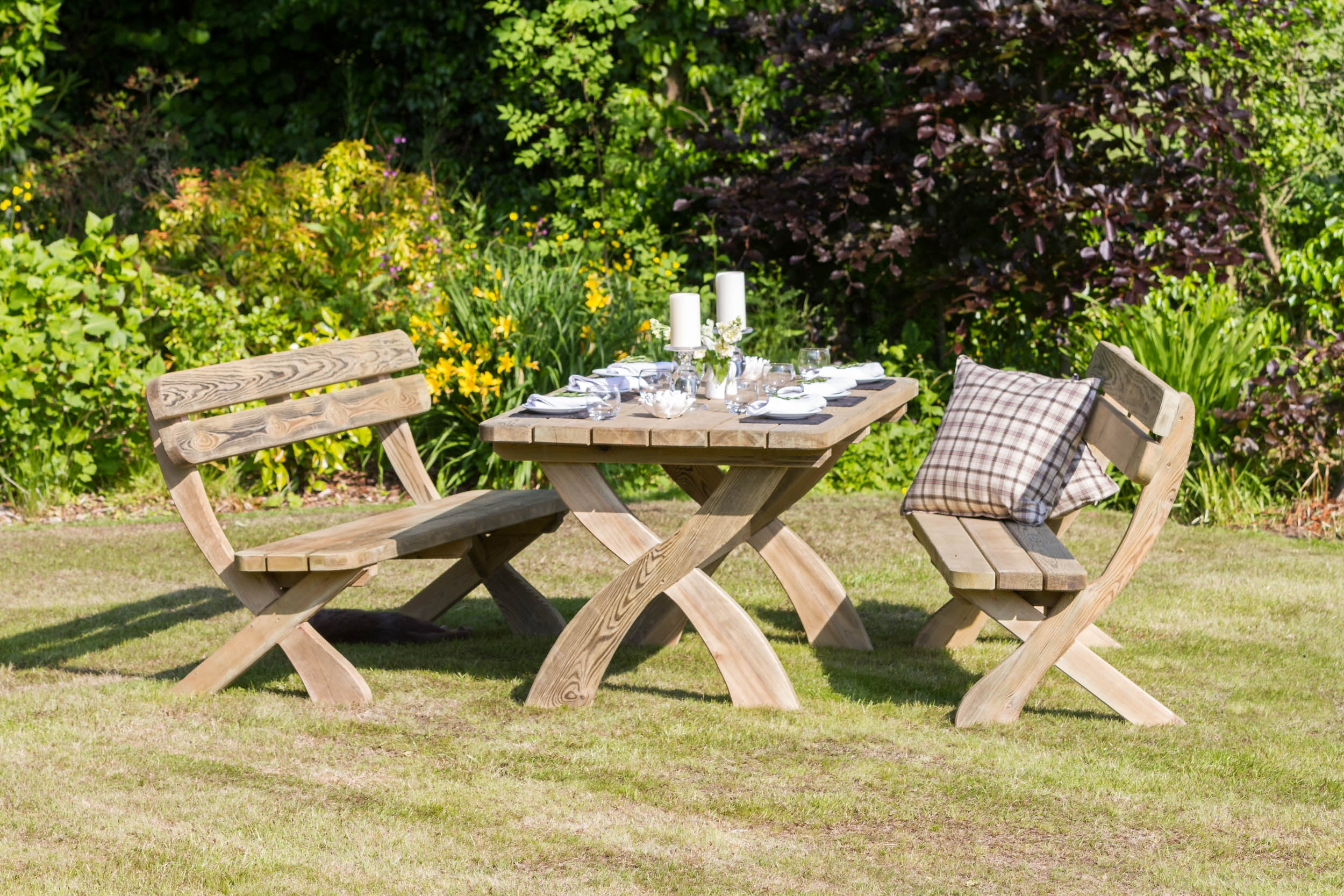 Wooden self assembly garden furniture online from Supreme Landscaping Products