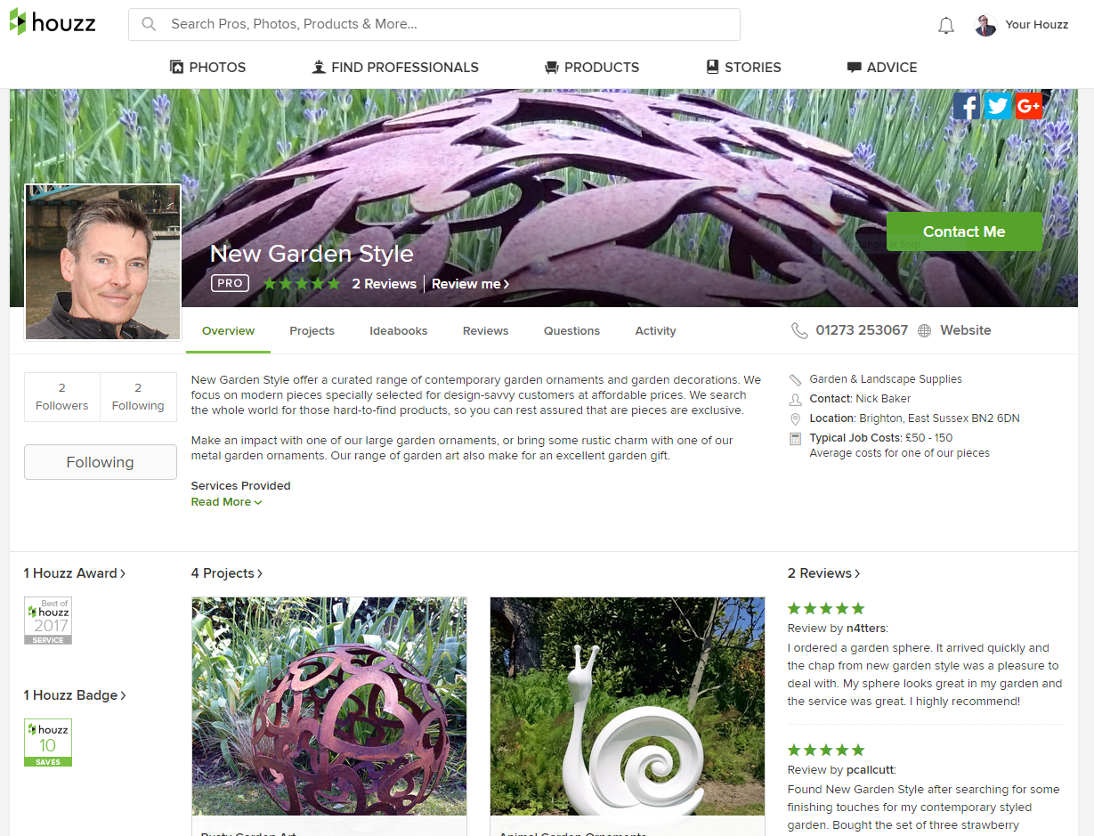 New Garden Style on Houzz