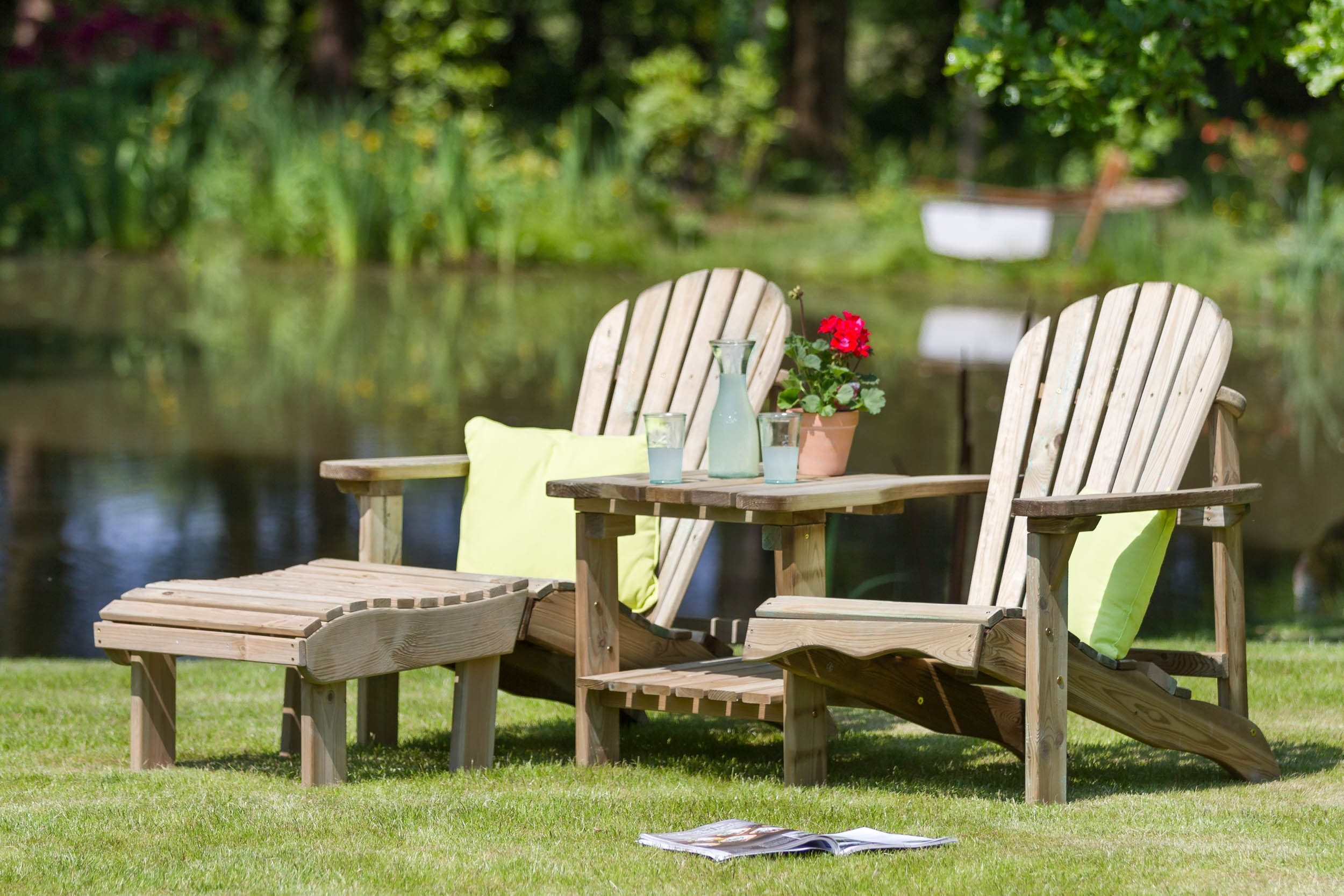 Quality pressure treated wooden garden furniture from Supreme Landscaping Products