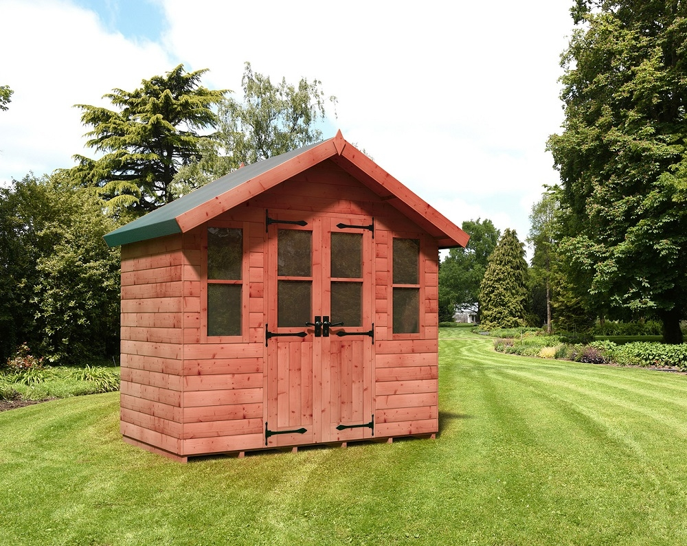 Swiss Chalet style garden shed from Supreme Landscaping Products