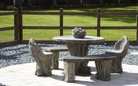 Stone woodland patio set from Supreme Landscaping Products