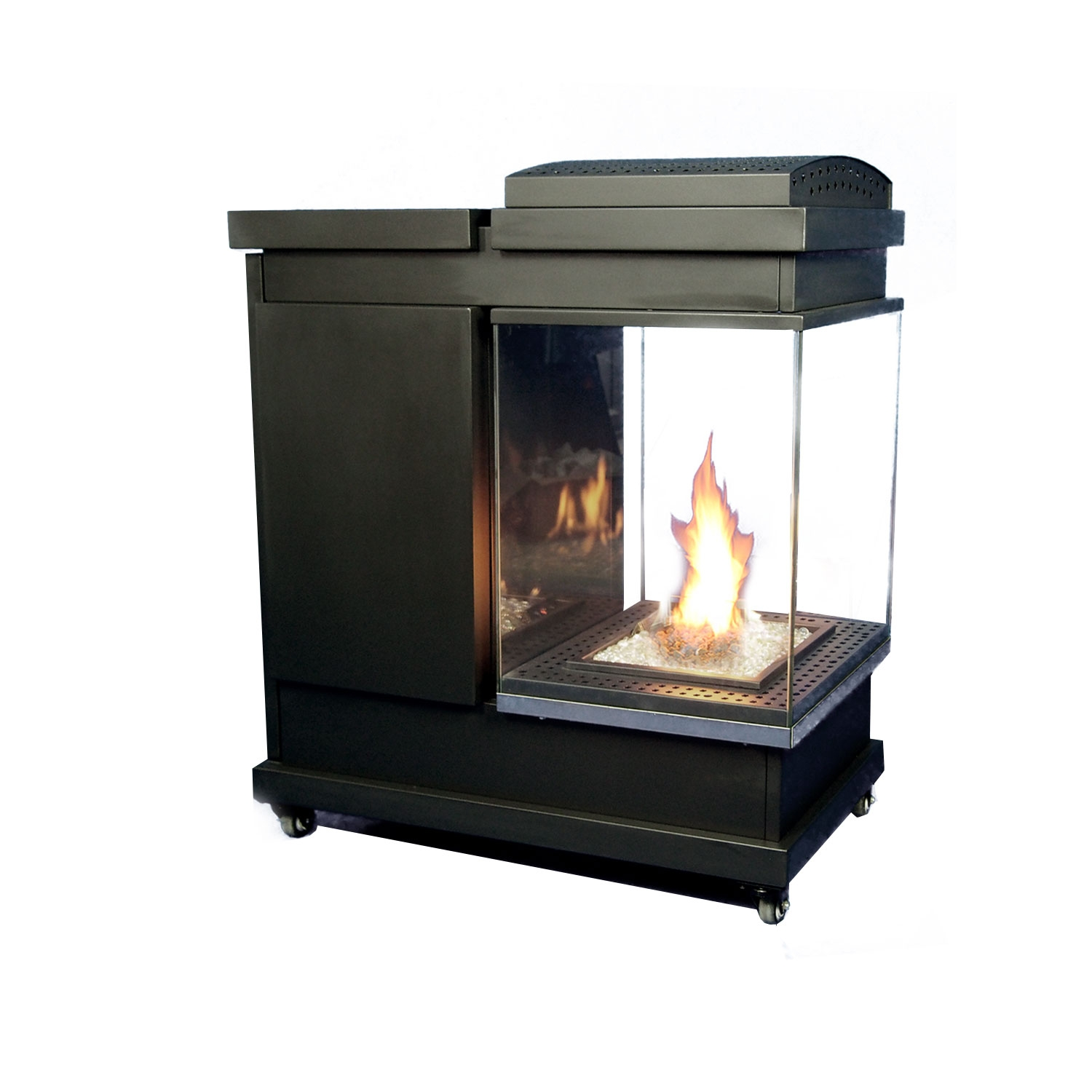 Kongur 425 outdoor gas fire, the solution for pubs, bistros and wine bars